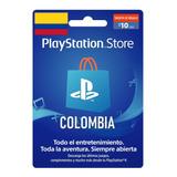 Tarjeta Psn 10 Usd - Entrega Personalizada - Región Colombia