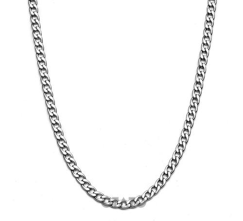 Collar Hombre - Cadena Hombre - Collar Eslabón Cubano - Collar Acero Quirúrgico - Cadena Eslabon Cubano Acero 0.50 Cm