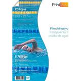 Papel Adhesivo Transparente A Prueba De Agua Tamaño A4 X 20h