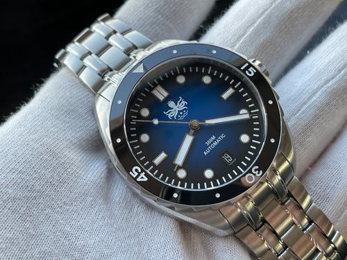 Relógio Phoibos Eagle Ray 300m Automatic Dive Blue Py025b