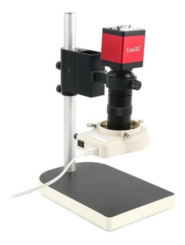 Microscopio Digital Vga Hdmi Reparación Celular Lampara Base