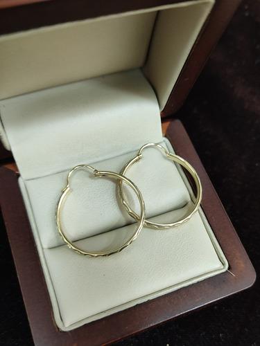 Arracadas De Oro Amarillo Tipo Cañoncillo 10k