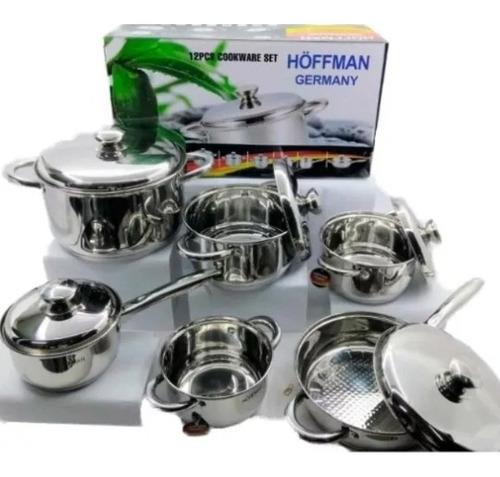 Bateria Ollas Acero Quirurgico 10 / 18 Hottman Germany 12 Pz