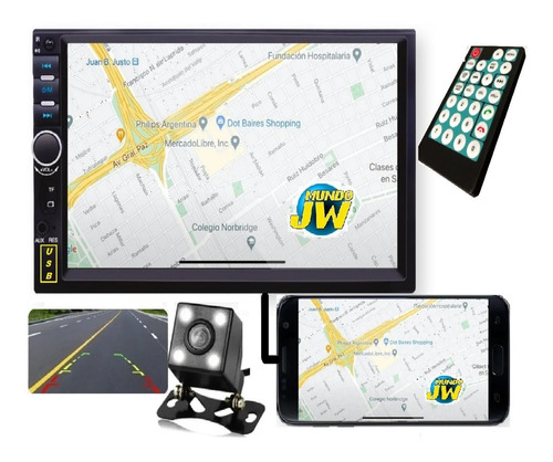 Estereo Pantalla Tactil Doble Din Mirror Link Simil Pioneer