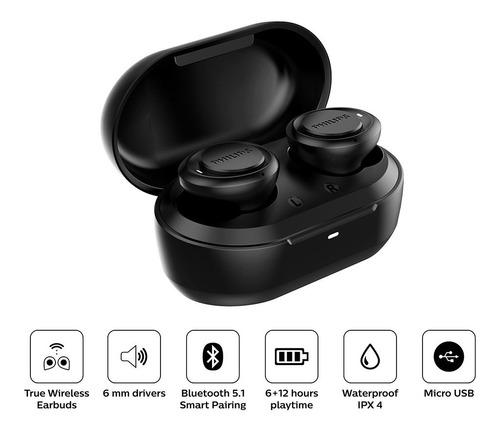 Audifonos Bluetooth True Wireless Philips Con Ipx4 Tat1215