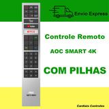Controle Remoto Tv Aoc Led Smart 4k - Youtube Netflix
