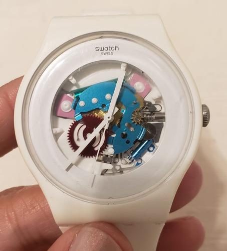Reloj Swatch New Gent White Maya Silicona