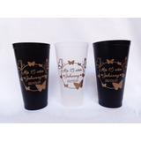 5 Vasos Plásticos Licoreros Personalizados