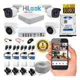 Kit Hikvision Hilook Dvr 8ch + 4 Cámaras 1080p + Disco 1tb