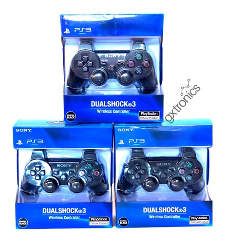 Combo De 3 Joystick Inalambrico Sony Ps3 Dualshock Original