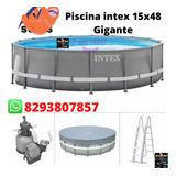 Piscinas Intex 15x48conlonacover Bomba & Filtróescalera