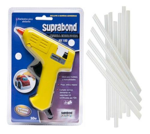 Pistola Encoladora Silicona + 10 Barras Suprabond