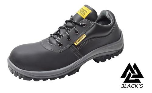 Zapatos De Seguridad Pampero C/ Puntera De Acero Art.609