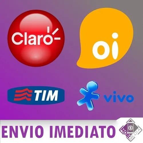 Recarga Celular Crédito Online Tim Claro Vivo Oi R$ 20,00