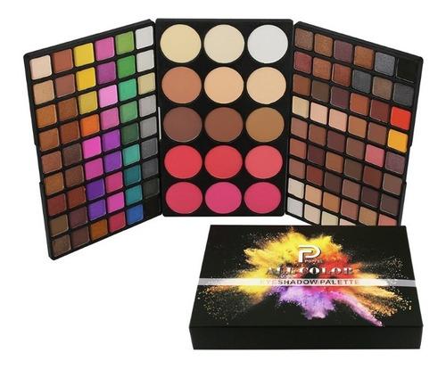 Paleta Sombras Ojos Profesional Sombras + Rubor 123 Colores