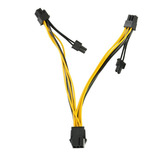 Cable Adaptador Splitter 6 Pin A 2x Pcie 8 Pin (6+2) Minería