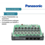 Tarjeta Panasonic / 16 Extension Digital Para Central Ns500