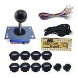 Kit Arcade Negro Botones T/sanwa E Interface - Urbanarcade