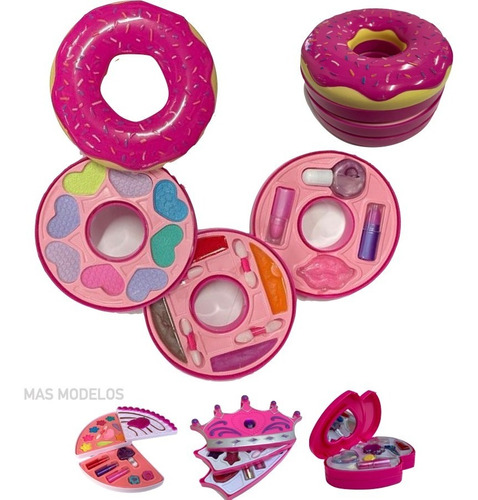 Kit Maquillaje Niñas Set Cosmetica Infantil Nenas - Dona