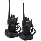 Kit 2 Radios De Comunicación Portátil  2 Vías + Manos Libres