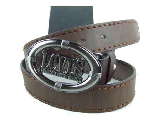 Levis Hombres Vintage Cinturón De Cuero Moda Ocio Cinturón 6