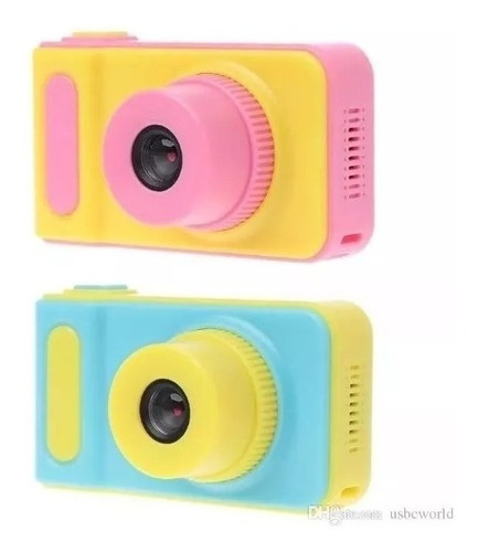 Mini Cámara Fotográfica Digital Para Niños Rosa O Celeste