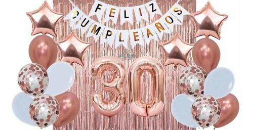 Combo De Globos Cumpleaños Súper Completo Decoración Números