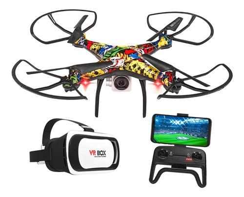 Drone Camara Hd Wifi Control Lente De Realidad Virtual Graba