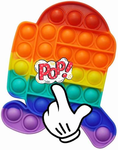 Push Pop It Burbuja Fidget Juguete Antiestres De Silicona