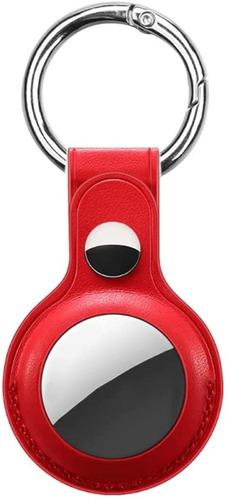 Capa Protetora De Airtag De Couro Com Chaveiro Premium