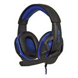 Headset Gamer Knup Kp-396 Preto E Azul