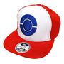 Boné Pokémon Ash Bordado Aba Reta Unissex Snapback Original
