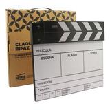 Claqueta De Cine Bifaz C/ Carta De Enfoque Indie