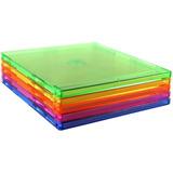 50 Capa Box Caixa Acrilica 7mm Cd / Dvd Single Slim Colorida