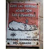 Rótulo Coleccionable De Costa Rica Antiguo Gusano Barrenador