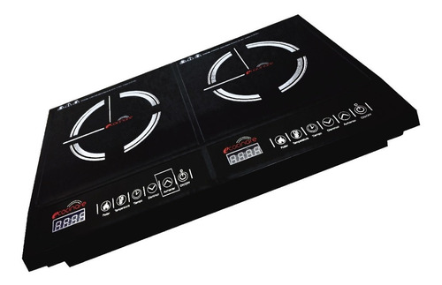 Parrilla Estufa 2 Quemadores Inducción Magnética 1800w Touch