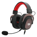 Auriculares Gamer Redragon Zeus Black Y Red