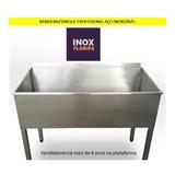 Banheira Reforçada Inox P/ Banho Tosa, Pet Shop, Veterinário