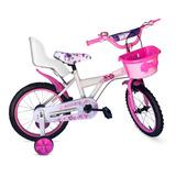 Bicicleta Rodado 16 Niña Rosa