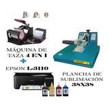 Plancha 38x 38cm + Máquina 4 Tazas + Impresora Epson L 3110