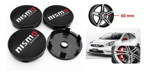 Juego De 4 Tapas De Aros Nissan Nismo De 60mm