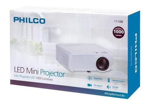 Mini Proyector 1000l Philco 1118b Evzpro