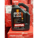 Aceite Motul 8100 Xcess 5w40 Sintético X 5lts