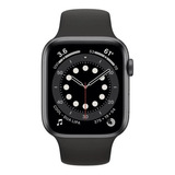 Apple Watch (gps) Series 6 40mm Caja 40mm De Aluminio Space Gray Malla Black De Fluoroelastómero A2291