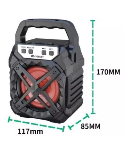 Parlante Bluetooth Portatil Luz Led Multimedia 6w Recargable