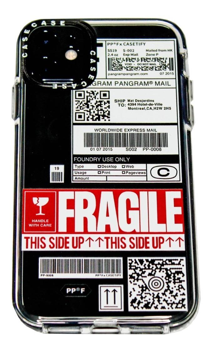 FUNDA TICKET FRAGILE IPHONE 12 Y 12 PRO