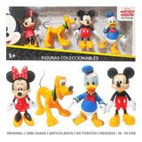 Set 4 Mickey Mouse Y Amigos Original Juguetes Niño Niña