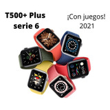 Reloj Inteligente T500 Smartwatch Rosado Blanco Negro