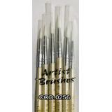 Set Kit 6 Pinceles Liner Largos Artistica Maquillaje Pintura