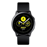 Samsung Galaxy Watch Active (bluetooth) 1.1  Caixa 40mm De  Alumínio Pulseira De  Fluoroelastómero E O Arco  Black Sm-r500